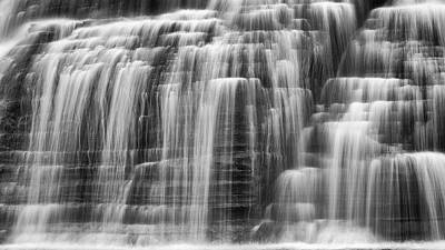 Finger Lakes Photograph - Lower Falls Cascade by Stephen Stookey