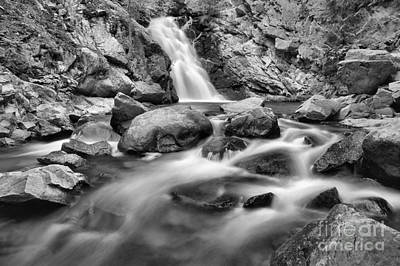 Photograph - Lower Falls Creek Falls Landscape Black And White by Adam Jewell