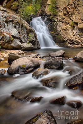 Photograph - Lower Falls Creek Falls Portrait by Adam Jewell