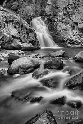 Photograph - Lower Falls Creek Falls Portrait Black And White by Adam Jewell