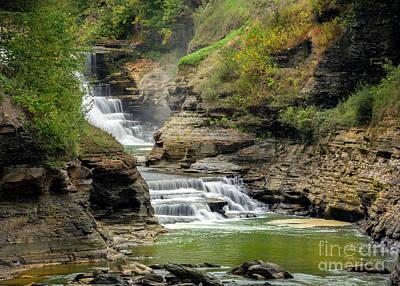 Photograph - Lower Falls Of Letchworh by Karen Jorstad