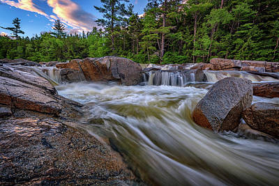 White Mountain National Forest Photograph - Lower Falls Of The Swift River by Rick Berk