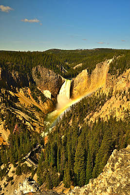 Photograph - Lower Falls Of The Yellowstone by Don Mercer