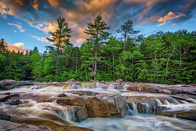 White Mountain National Forest Photograph - Lower Falls On Kancamagus Highway by Rick Berk