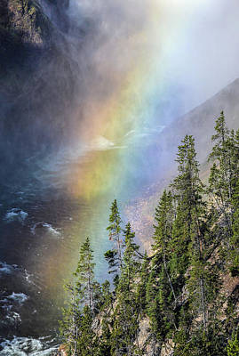 Photograph - Lower Falls Rainbow by Rae Ann  M Garrett