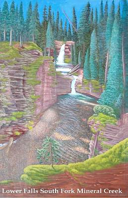 West Fork Painting - Lower Falls South Fork Mineral Creek by Philipp Merillat