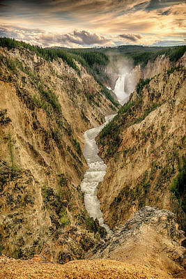 Photograph - Lower Falls Yellowstone Canyon Grk7936_05282018 by Greg Kluempers
