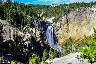 Photograph - Lower Falls, Yellowstone by Marilyn Burton