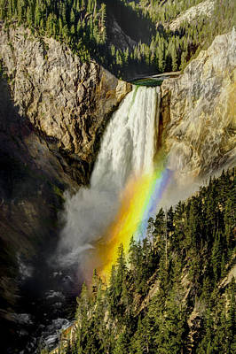 Painting - Lower Falls- Yellowstone Park by Penny Lisowski