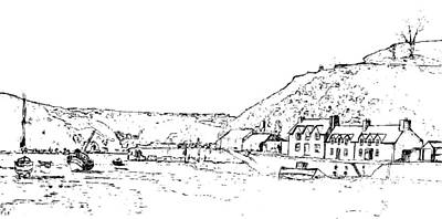 Lower Fishguard Art Print by Frank Hamilton