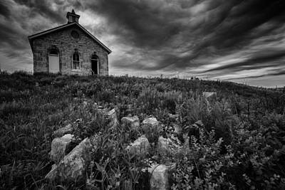 One Room School Houses Photograph - Lower Fox Creek Schoolhouse by Rick Berk