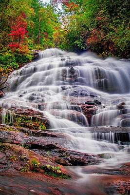Photograph - Lower Glen Falls by Andy Crawford