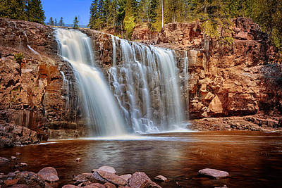 Photograph - Lower Gooseberry Falls by Susan Rissi Tregoning