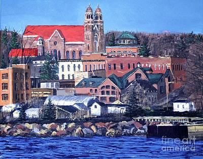 Marquette Wall Art - Painting - Lower Harbor-marquette Michigan by Tim Lindquist