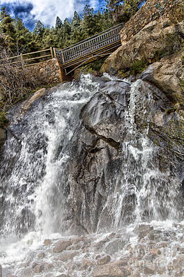 Photograph - Lower Helen Hunt Falls by CJ Benson