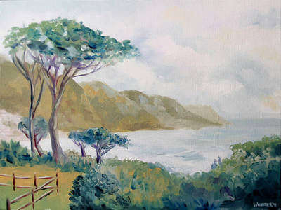 Lower Kloof Road Cape Town South Africa Oil Painting Art Print by Mark Webster