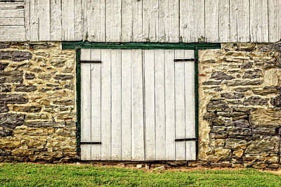 Photograph - Lower Level Door To An 1803 Amish Corn Barn  -  1803cornbarn172868 by Frank J Benz