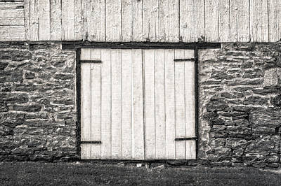 Photograph - Lower Level Door To An 1803 Amish Corn Barn  -  1803cornbarnblwh172868 by Frank J Benz