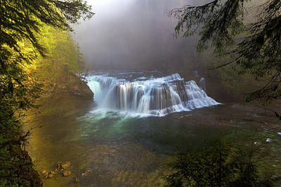 Photograph - Lower Lewis Falls Foggy Morning by David Gn