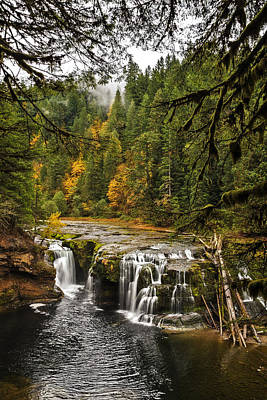 Photograph - Lower Lewis River Falls In Falltime by Wes and Dotty Weber