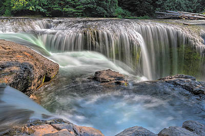 Stream Photograph - Lower Lewis River Falls Rush by David Gn
