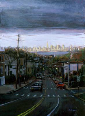 September 11 Painting - Lower Manhattan 2002 by Sarah Yuster