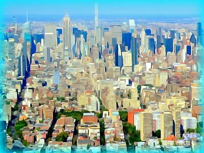 Photograph - Lower Manhattan Abstract by Ed Weidman