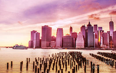 Photograph - Lower Manhattan And Ferry by Rima Biswas