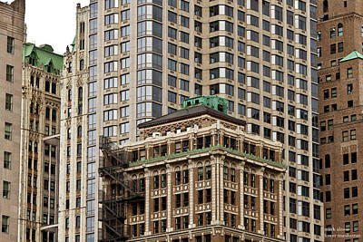 Photograph - Lower Manhattan Architecture by Mark Alesse