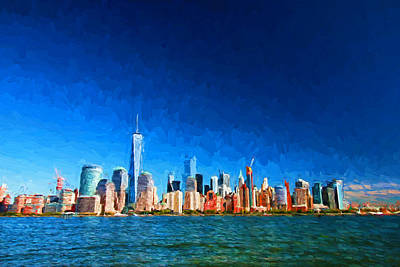 Photograph - Lower Manhattan - Photopainting by Allen Beatty