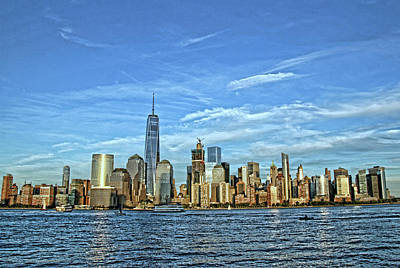 Photograph - Lower Manhattan Featuring The Freedom Tower by Allen Beatty