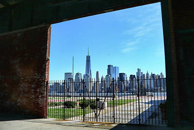 Photograph - Lower Manhattan Framed by Allen Beatty