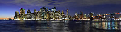 Photograph - Lower Manhattan From Brooklyn Heights At Dusk - New York City by Carlos Alkmin
