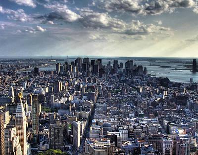 Lower Manhattan From Empire State Building Art Print by Joe Paniccia