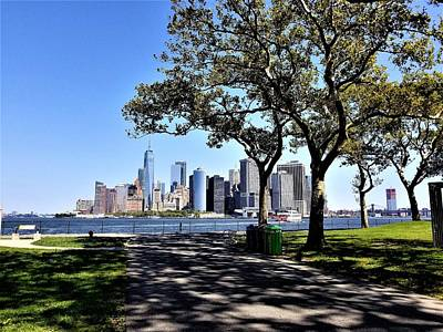 Photograph - Lower Manhattan From Governers Island by Rob Hans