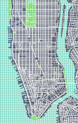 Lower Manhattan Map Original