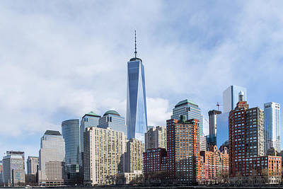 Photograph - Lower Manhattan On The Hudson River by SR Green