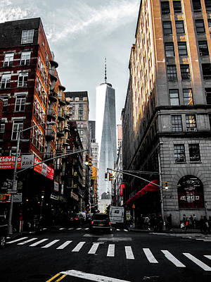 Times Square Photograph - Lower Manhattan One Wtc by Nicklas Gustafsson