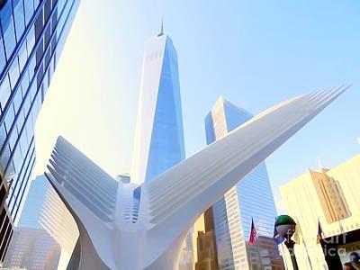 Photograph - Lower Manhattan Scene by Ed Weidman