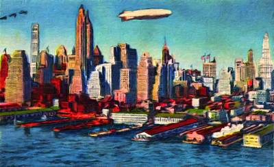 Lower Manhattan Skyline New York City Art Print by Vincent Monozlay