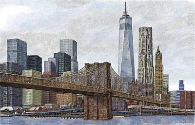 Lower Manhattan Skyline 2 Art Print