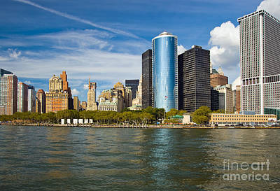 Photograph - Lower Manhatten Skyline by Fred Lassmann