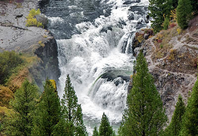 Photograph - Lower Mesa Falls by Alex Galkin