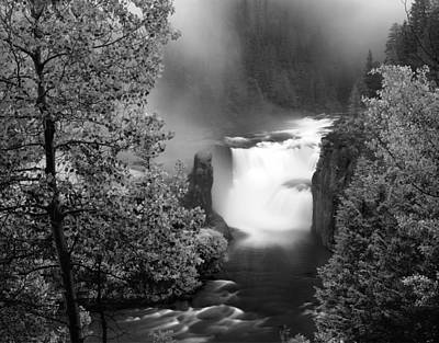 Photograph - Lower Mesa Falls by Leland D Howard