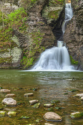 Photograph - Lower Mine Kill Falls Vertical by Angelo Marcialis