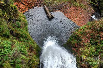 Lower Multnomah Falls From Benson Bridge - Columbia Gorge Art Print