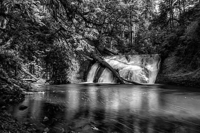 Photograph - Lower North Falls Bw by Belinda Greb