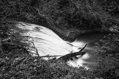 Photograph - Lower North Falls From Above Black And White  by John McGraw