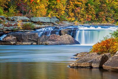 Pennsylvania Waterfalls Photograph - Lower Ohiopyle Falls by Jennifer Grover