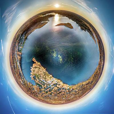Photograph - Lower Phantom Lake Little Planet by Randy Scherkenbach